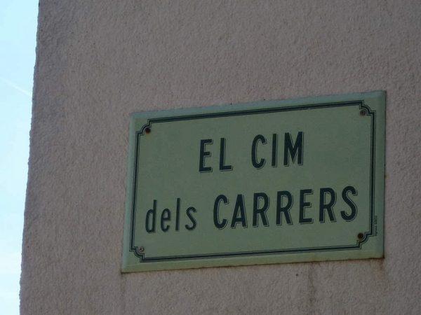 CARRERS (3) ORONÍMIA ALS CARRERS