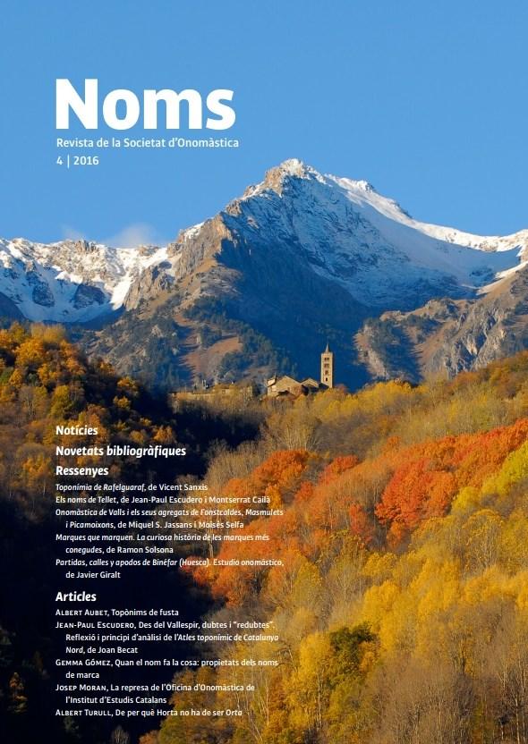 NOMS 4. Revista de la Societat d'Onomàstica