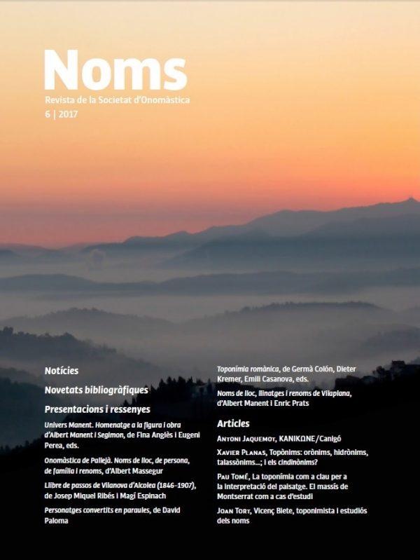 NOMS-6. Revista de la Societat d'Onomàstica