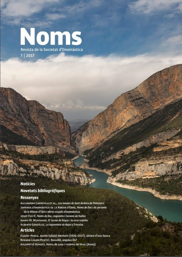 NOMS-7 Revista de la Societat d'Onomàstica