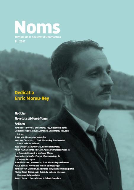 NOMS-8 REVISTA DE LA SOCIETAT D'ONOMÀSTICA. Dedicat a Enric Moreu-Rey
