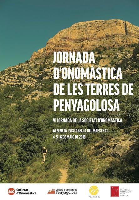 JORNADA D'ONOMÀSTICA DE LES TERRES DE PENYAGOLOSA. PROGRAMA I INSCRIPCIÓ
