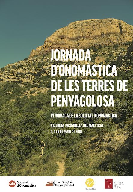 JORNADA D'ONOMÀSTICA DE LES TERRES DE PENYAGOLOSA. Programació definitiva