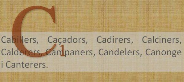 CARRERS (29) D'OFICI (5) 'CAB a CAN'