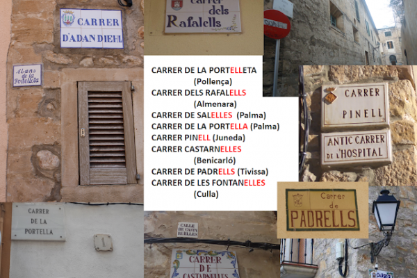 CARRERS (30) SUFIXOS (3) ELS ALTRES DIMINUTIUS  (-ELL, -Í, -IM, -Ó, -OT…)