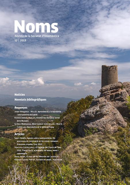 NOMS-12 i altres novetats de la Societat d'Onomàstica