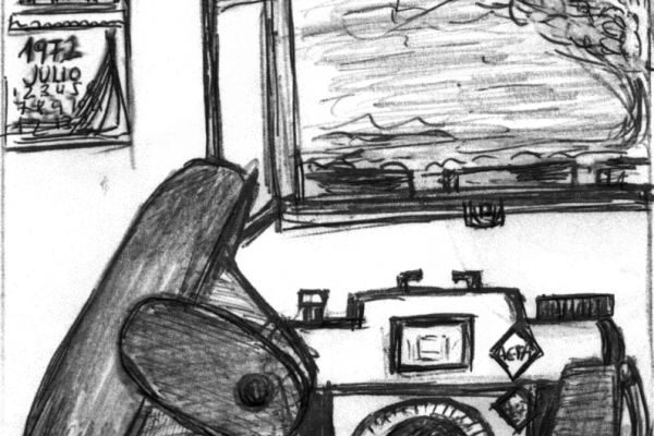 """Ernest Micó. Il·lustració del conte """"L'escullera del Maso"""""""