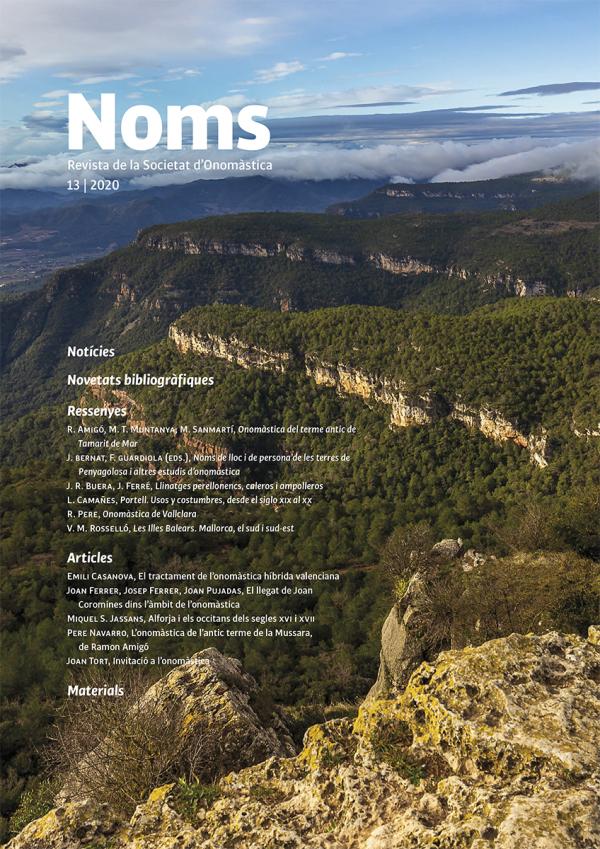 Noms 13 – Revista de la Societat d'Onomàstica