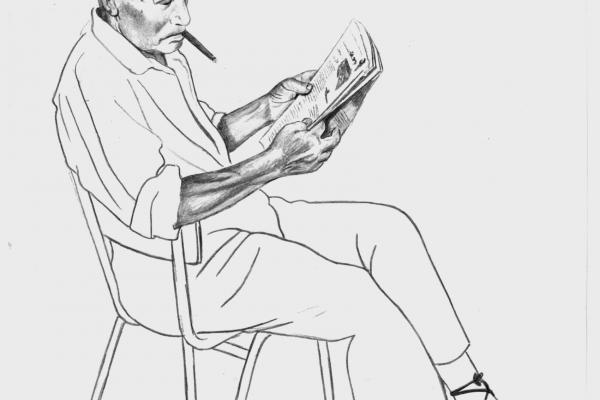 """Amat Bellés. Il·lustració del conte """"El sinyo Pepe"""""""