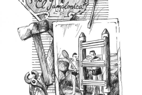 "Paco Membrado. Il·lustració del conte ""La nit de les llaunes"""