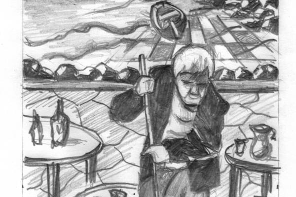 "Ramón Manrique Pesudo. Il·lustració del conte ""Teresa"""