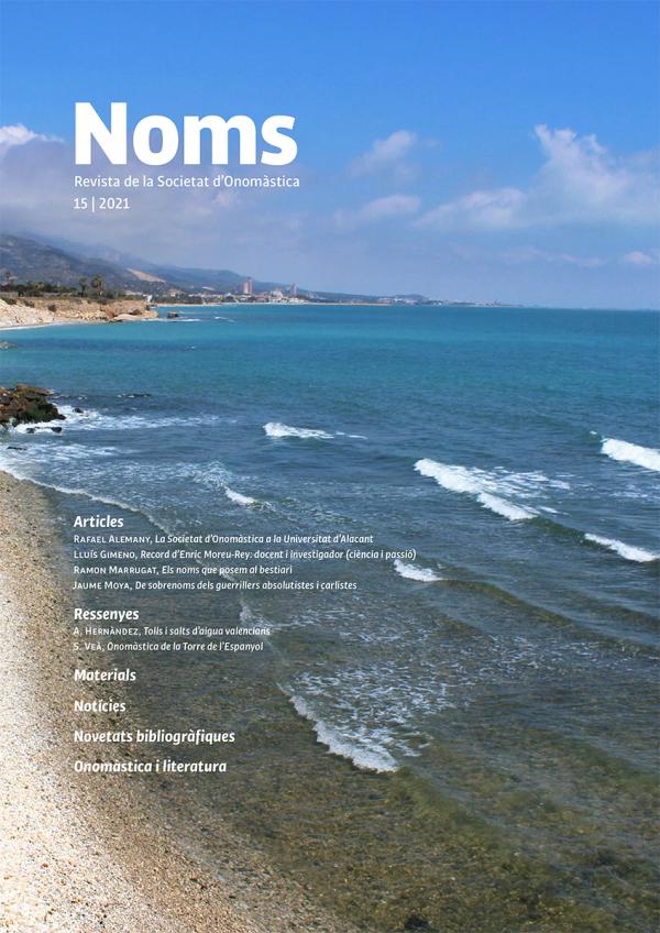 Noms-15  Revista de la Societat d'Onomàstica